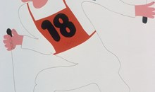 """Affisch: """"Ett bra sätt att vinna i Olympiska Spelen. Att spola kröken och ligga i selen"""""""